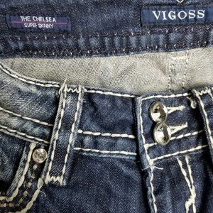Vigoss Jeans - Vigoss The Chelsea Super Skinny Dark Wash 26x29